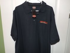 Harley Davidson Classic Navy Blue Embroidered HD Logo Polo Shirt SZ XL NWT #HarleyDavidson #PoloRugby