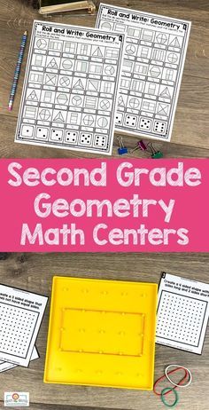 2nd Grade Geometry Math Centers - Here your second graders get 387 pages of geometry, attributes of shapes, and partitioning shapes math centers. You'll find 25 hands-on games and center activities, center signs, game boards, math journal pages, and more. Click through to see the sorts, activities, drawing, investigations, Memory game, and more! {Year 2} #Math #SecondGrade #2ndGrade #GeometryMathCenters Activity Centers, Math Centers, Quick Print, Center Signs, Shape Matching, Game Boards, 2nd Grade Classroom, Second Grade Math, Math Journals