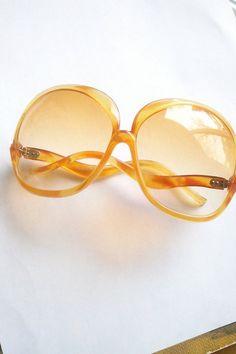 9452ac11f3 60 s Mod Oversized Tangerine Sunglasses   Vintage Shades   Vintage NOS  Eyewear Fashion Eye Glasses