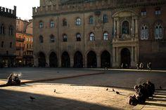 """Bologna: """"Piazza Maggiore in winter's sunshine"""" by @AsgeirPedersen, via Flickr"""