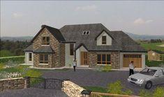 dorm112 Dormer Bungalow, Self Build Houses, Stone Cladding, Sims 4 Houses, Ceiling Design, Future House, Building A House, House Plans, House Ideas