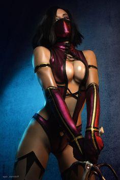 "cosplayfanatics: ""Mileena costumes Mortal Kombat 9 by AsherWarr """