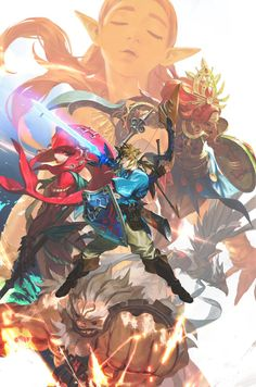 The Legend of Zelda: Breath of the Wild The Legend Of Zelda, Legend Of Zelda Memes, Legend Of Zelda Breath, Princesa Zelda, Zelda Breath Of Wild, Breath Of The Wild, Cry Anime, Manga Anime, Marshmello Wallpapers