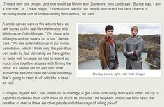 Bradley James on the big reveal and Colin Morgan