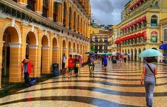 The UNESCO World Heritage Site of Senado Square in the historical centre of Macau Macau Travel, Beautiful Places In The World, Historical Architecture, World Best Photos, Mexico Travel, Historical Sites, World Heritage Sites, Where To Go, Centre
