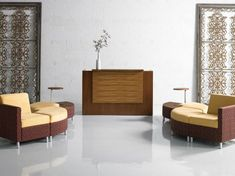 Shop our high quality Modern Reception Desks designed for today's Contemporary Workplace including Curved Reception Desks, White Reception Desks, Reception Counters and the latest design trends in Reception Area Furniture. Modern Reception Desk, Reception Furniture, Reception Desk Design, Office Furniture, Office Space Design, Modern Office Design, Contemporary Office, Contemporary Furniture, Central Park