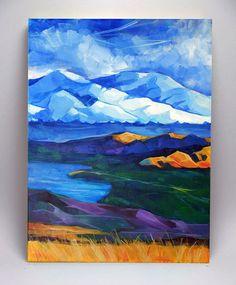 Art Acrylic Painting on Canvas Original Painting by KaiArtStudio