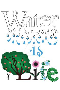 This is my poster idea for the contest Life is Water. But I don't think I'm going to turn it in and i was thinking of doing the same only in German. Water is Life Poster