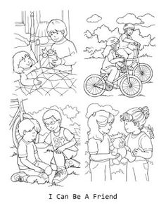 if you plan it they will come - I Can Be A Friend Coloring Page