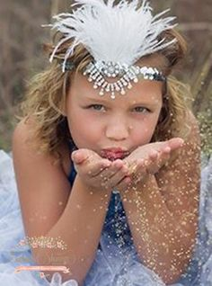 Silver Sequin Feather Headband | Enchanted Shimmer Designs
