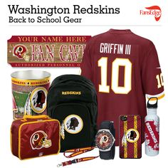 Washington Redskins Fans - Pin It to Win It All! You can win a complete back to school NFL prize pack worth over 300 dollars! To enter, pin your favorite NFL Team's Back to School image to win every item in the collage! #FansEdge –Visit http://www.fansedge.com/promotions.aspx?social=pinterest_nfl_pintowin to enter
