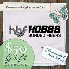 Maureen Cracknell Handmade: A Community Sampler Giveaway with Hobbs Batting!