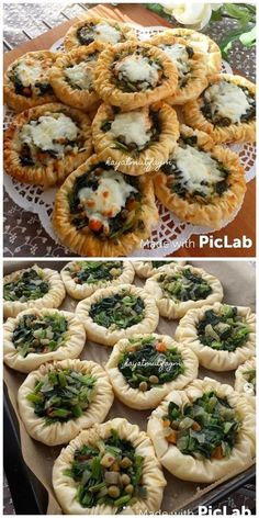 Pin by Almaza Salamy on مخبوزات Turkish Recipes, Ethnic Recipes, Albanian Recipes, Snack Recipes, Cooking Recipes, Iftar, Appetisers, Perfect Food, Party Snacks