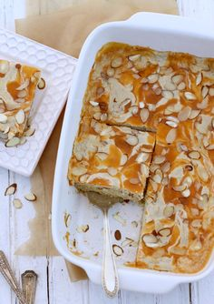 "Almond & Apricot ""Cheese"" Danish Cake {Gluten-Free, Vegan -- sub maple syrup or bee free honee for honey}"