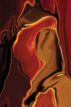 "Saatchi Art Artist Rabi Khan; New Media, ""The Kiss in Red"" #art"
