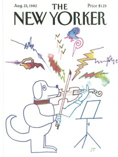 The New Yorker - Monday, August 23, 1982 - Issue # 3001 - Vol. 58 - N° 27 - Cover by : Saul Steinberg