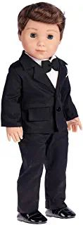 Tuxedo - 5 Piece Tuxedo Set - Clothes Fits 18 Inch American Girl Doll - Black Jacket, Pants, Belt, White Shirt and Dress Shoes (Dolls not Included) Our Generation Dolls, Tuxedo, American Girl, My Life, 18th, Dress Shoes, Belt, Amazon, Fitness