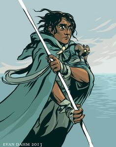 Ged from A Wizard of Earthsea by Ursula K. Le Guin. Really really beautiful book.
