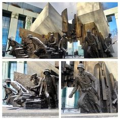 These images are from the most powerful piece of #commemorative public #art that I have ever had the privilege to see. Located outside #Poland's federal law courts in #Warsaw is the #monument to #insurgents who stood up to the invading Nazi forces during World War 2. #WW2 ##history #education #fact #war #peace #remember #heroes #bronze #statue #sculpture #IgersWarsaw #IgersPoland #travel #tourism #tourist #leisure #life