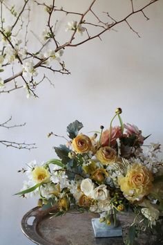 Ranunculus, quince, jasmine, tetra anemones, fritillaria, early cherry blossoms....