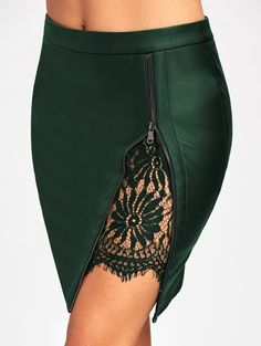 SHARE & Get it FREE | Lace Insert Fitted Faux Leather SkirtFor Fashion Lovers only:80,000 Items • New Arrivals Daily • Affordable Casual to Chic for Every Occasion Join Sammydress: Get YOUR $50 NOW!