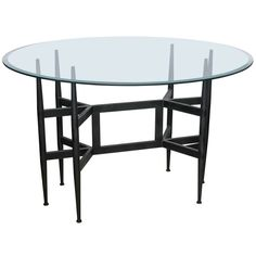 In the style of Gio Ponti Dining Table, 1960s | From a unique collection of antique and modern dining room tables at https://www.1stdibs.com/furniture/tables/dining-room-tables/