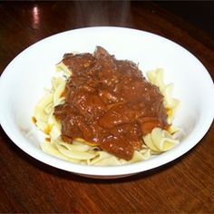 Beef Paprika Allrecipes.com Tried it. KEEPER! Liked a lot. Used venison stew meat ( cooked in skillet with lid, meat fell apart in less than 2 hours simmering). Used a lot more paprika, pepper, cayenne, added granulated garlic. -JS