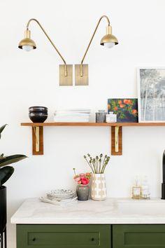 Studio Kitchen Reveal! Sconces from @lucentlightshop