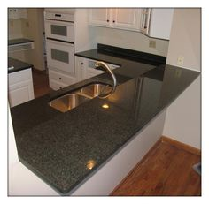 Custom Marble u0026 Granite: Impala Black Breakfast bar
