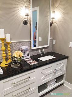 Omaha Street of Dreams Upstairs Bathroom Cabinet detail - Life on Virginia Street