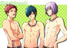 High Speed ... asahi shiina, shiina, asahi, ikuya kirishima, kirishima, ikuya, nao serizawa, nao, serizawa, Free! - Iwatobi Swim Club, free!, iwatobi