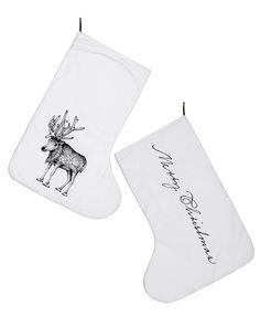 """Heute ist der Tag der Socke! Wie passend einen Tag vor Nikolaus! Schließlich ist die """"Socke"""" das wichtigste Accessoire für den Nikolaus Tag!  und die sehen einfach so schön aus <3 Bloomingville Weihnachtssocke Rentier"""