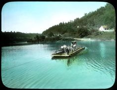 Kentucky Ferry- Elmer L. Foote Lantern Slide Collection, ca. 1900-1915 (Lexington Public Library)