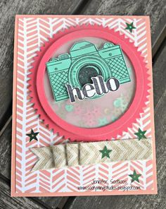 Snapshot Hello! by jeny_79 - Cards and Paper Crafts at Splitcoaststampers  (Pin#1: Cameras...  Pin+: Shakers).