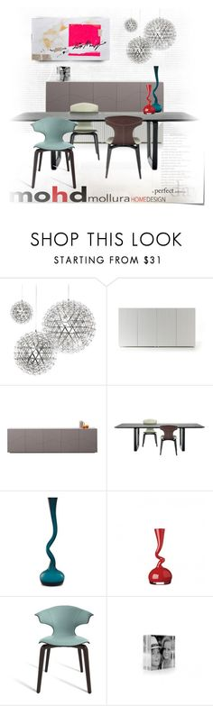 """""""Swing Vase ,2"""" by ansev ❤ liked on Polyvore featuring interior, interiors, interior design, home, home decor, interior decorating, Post-It, Moooi, Horm and Poltrona Frau"""