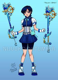 Sailor Mercury + Kingdom Hearts by Erin Wong