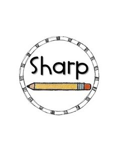 """Add these circular labels {with *sparkly* pencil cues} to baskets in order to remind your students to place dull pencils in the """"Not Sharp"""" basket,. Classroom Organisation, Classroom Projects, Teacher Organization, Classroom Setup, Classroom Design, School Classroom, School Teacher, School Fun, Classroom Management"""