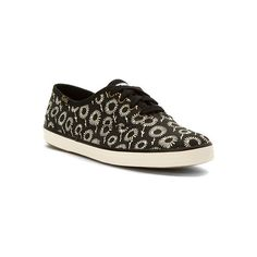 Keds Champion Daisy  Sneakers ($50) ❤ liked on Polyvore featuring shoes, sneakers, black, daisy shoes, black canvas shoes, canvas sneakers, summer sneakers and keds