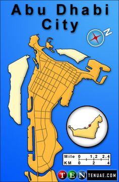 Abu Dhabi Map, UAE// The constituent emirates are Abu Dhabi (which serves as the capital), Ajman, Dubai, Fujairah, Ras al-Khaimah, Sharjah and Umm al-Quwain.