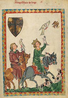 Manesse Codex - (1300 - 1340) König Konrad der Junge