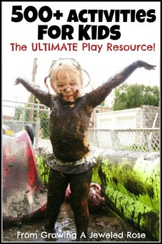 The ULTIMATE resource for kids activities!  500+ activities including Art, Math, Science, Literacy, Sensory, and just plain FUN!