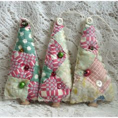 Vintage cutter quilt  tree ornament by FavoriteThingsbyJane
