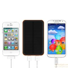 dual usb universal portable solar battery charger 10000mah waterproof solar power bank for iphone/samsung | Hot Sale Gift