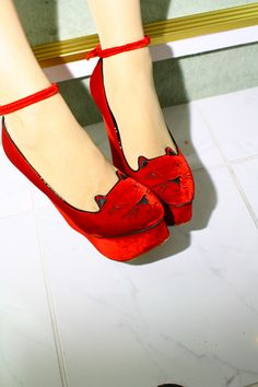 Red kitten shoes, of course!