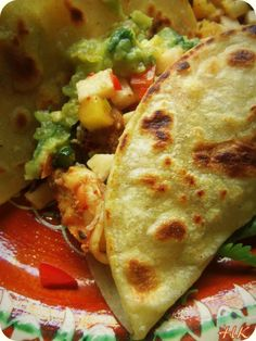 Authentic Fish and Shrimp Tacos with a Jicama Pineapple Salsa HispanicKitchen.com..., ,