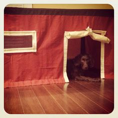 Homemade table fort-want to make for the girls, but use the same colors as our house :)