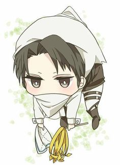 Chibi Levi Cleaning >w<