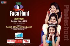 Only 2 days left for this golden opportunity #Roopmantrafacehunt2015 #Audition #Ayurvedicfacecream , #capsules & #Herbalfacewash We specially invite those people who had received our email or phone call From Roopmantra face hunt. Roop Mantra Face Hunt Audition, Sunday 5th July, 2015,  Timing: 11:00 AM to 5:00 PM Venue: Paras Downtown Square Mall, Zirakpur, Chandigarh www.roopmantra.com Like Us: www.facebook.com/Roopmantra Follow Us:http://bit.ly/1CPmIjs