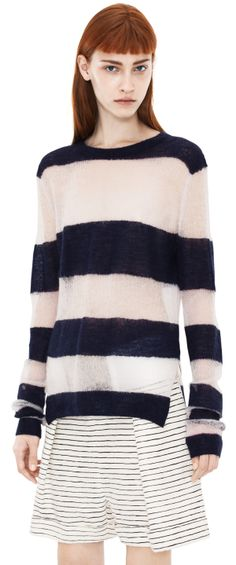 Acne Octave kid m ink blue/antique white stripe
