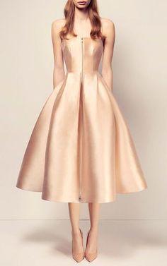 The Maeve Silk Strapless Midi Dress by ALEX PERRY for Preorder on Moda Operandi